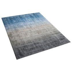 Beliani Dywan szaro/niebieski 140 x 200 cm krótkowłosy ercis (4260602375128)