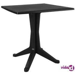 Vidaxl stolik ogrodowy, 70x70x71,7 cm, plastikowy, antracytowy (8719883551494)
