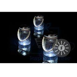 Garthen Zestaw 3 lampionów solarnych szklanych