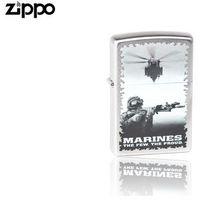 Zapalniczka benzynowa Zippo Marines, Satin Chrome
