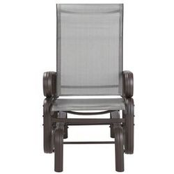 Krzesło ogrodowe bujane brązowe BORGIO