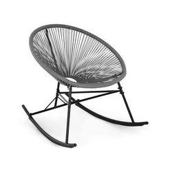 Blumfeldt roqueta fotel bujany styl retro plecionka 4 mm szary