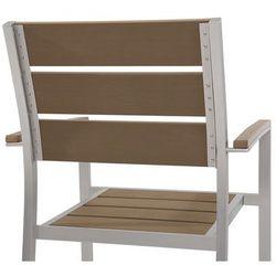 Beliani Zestaw do ogrodu 6 krzeseł brązowe vernio (4260624119649)