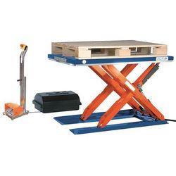 Unbekannt Płaski stół podnośny, dł. x szer. 1500x800 mm, zakres podnoszenia do 800 mm, pla