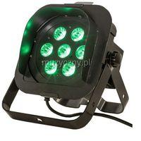 American DJ Flat PAR TRI7XS - reflektor LED RGB czarny płaski 7 x 3W TRILED