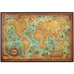 Świat mapa ścienna stylizowana na podkładzie korkowym (mapa szkolna) od ArtTravel.pl