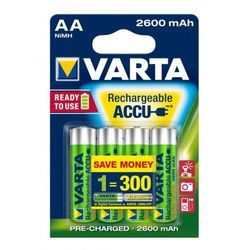 4 x Varta Professional Ready2use R6/AA 2600 mAh (akumulatorek)