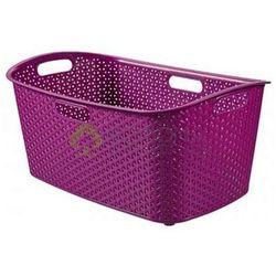Kosz do magla na pranie rattan MY STYLE fiolet - produkt z kategorii- Kosze na pranie