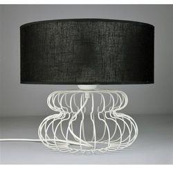 Lampka Nocna Small Mash White 2502 - Czarny transparentny/Biały
