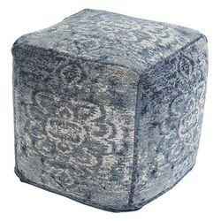 Qazqa Vintage kwadratowy puf niebieski 45 x 45 x 45cm - kanpur