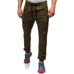 Khaki spodnie joggery męskie Denley 0706 - KHAKI