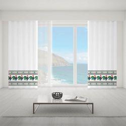 Zasłona okienna na wymiar - REGIONAL ROOSTER MOTIF
