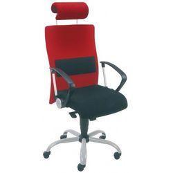 Krzesło obrotowe NEO II hrua lu gtp9 steel02 alu - biurowe z podparciem lędźwi i zagłówkiem, fotel biurowy, obrotowy