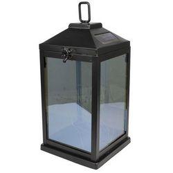 Latarnia solarna LED z siatką czarna (5059340020365)