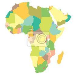 Fototapeta mapa polityczna Afryki ze sklepu REDRO