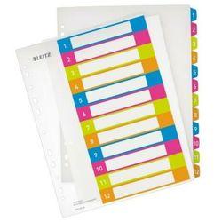 Esselte Przekładki plastikowe do nadruku tekstu na kartę leitz wow 1-12