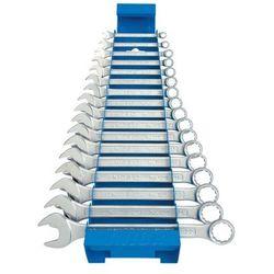 Zestaw kluczy płasko-oczkowych 6-22 17szt. krótkich na metalowym stojaku Unior (605539) 125/1MS