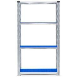 Moduł podstawowy regału 900x600x1972mm Kolor półek: niebieski 180kg/półka