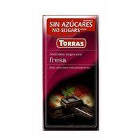 Torras Czekolada gorzka z truskawkamii bez dodatku cukru 75g