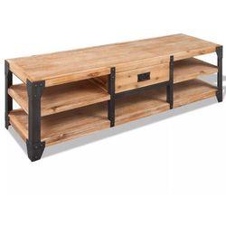 vidaXL Szafka pod TV z drewna akacjowego, 140x40x45 cm