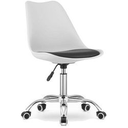 Krzesło obrotowe w stylu skandynawskim MSA009 biało-czarne, 135549