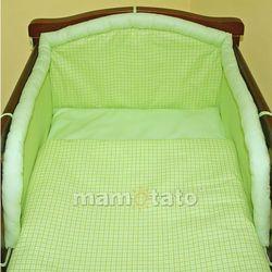 MAMO-TATO pościel 2-el Krateczka zielona do łóżeczka 60x120cm z kategorii Komplety pościeli dla dzieci