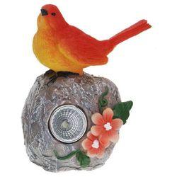 Lampa solarna 11 cm ptaszek pomarańczowy - pomarańczowy marki Progarden