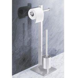 Uchwyt na papier toaletowy oraz szczotka do WC Fresco, 40185