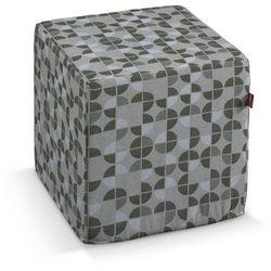 Dekoria pufa kostka, brązowo-beżowe wzory, 40 × 40 × 40 cm, wyprzedaż do -50%