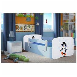 Łóżko chłopięce z materacem happy 2x mix 80x180 - niebieskie marki Producent: elior