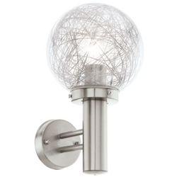 Zewnętrzna LAMPA ścienna NISIA 1 93366 Eglo metalowa OPRAWA do ogrodu IP44 outdoor kula stal aluminium przezroczysty, kup u jednego z partnerów