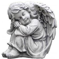 Figura ogrodowa betonowa śpiący aniołek 33cm