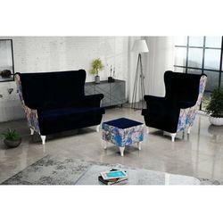 """Sofa.pl Zestaw """"riki"""" sofa + fotel+podnóżek - ciemna zieleń"""