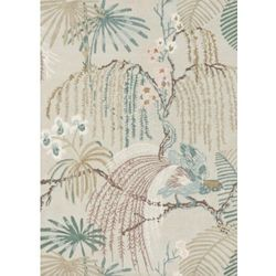 C&m Szary dywan w kwiaty rain forest orchid grey