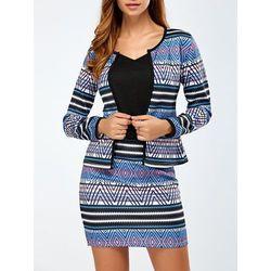 Printed Jacket and Mini Skirt ()