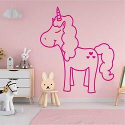 Naklejka na ścianę dla dzieci jednorożec 2545 marki Wally - piękno dekoracji