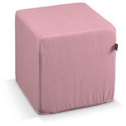 Dekoria  pokrowiec na pufę kostke, różowa w kropeczki, kostka 40x40x40 cm, ashley