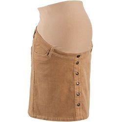 Spódnica sztruksowa ciążowa z guzikami, długość przed kolano bonprix kawa lodowa - produkt z kategorii-