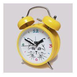 Atrix Super cichy budzik metalowy z dzwonkami #kot y