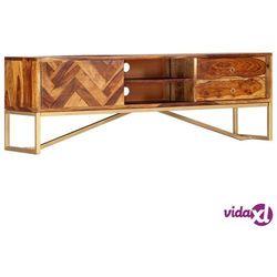 szafka pod tv, 140x30x45 cm, lite drewno sheesham marki Vidaxl
