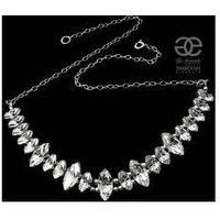 Arande Swarovski ślubne piękny naszyjnik crystal srebro