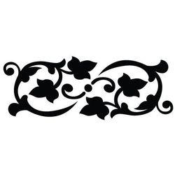 Szablon malarski z tworzywa, wielorazowy, wzór flora 328 - border marki Szabloneria