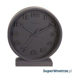Zegar stojący 20 cm NeXtime Wood Wood Small szary