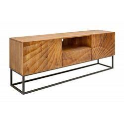 Invicta szafka pod telewizor scorpion - 160 cm, mango, brązowa, metal, lite drewno marki Sofa.pl