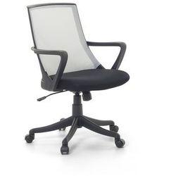 Beliani Krzesło biurowe jasnoszare - fotel biurowy obrotowy - meble biurowe - ergo