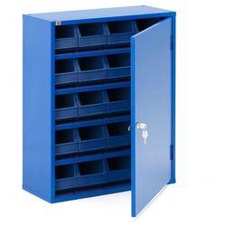 Szafka warsztatowa z pojemnikami, 800x660x275 mm, niebieski marki Aj produkty