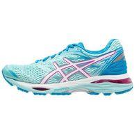 ASICS GELCUMULUS 18 Obuwie do biegania treningowe aqua splash/white/pink glow, kolor niebieski