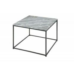 INVICTA stolik kawowy ELEMENTS 50 cm - marmur szary, metal