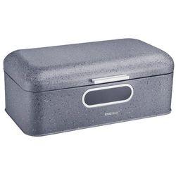 Chlebak /pojemnik na chleb kuferek z szybką ciemny siwy marmur marki Kinghoff