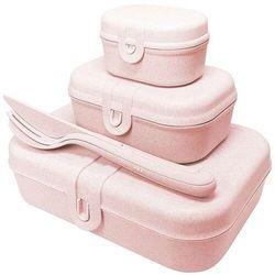 Koziol Zestaw lunchboxów pascal ready organic różowy